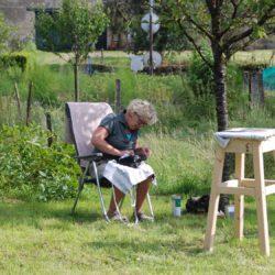 polijsten in de tuin