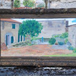 olieverfschilderij van de boerderij