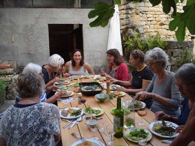 diner in de tuin