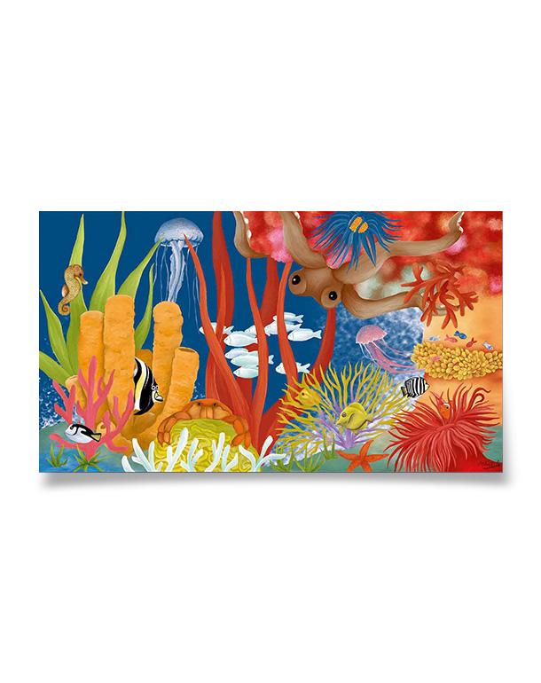 affiche-decoration-coloree-enfant-recif