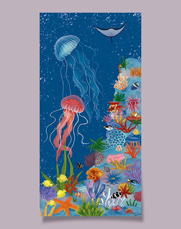 tableau-decoration-originale-enfant-meduses-120x60