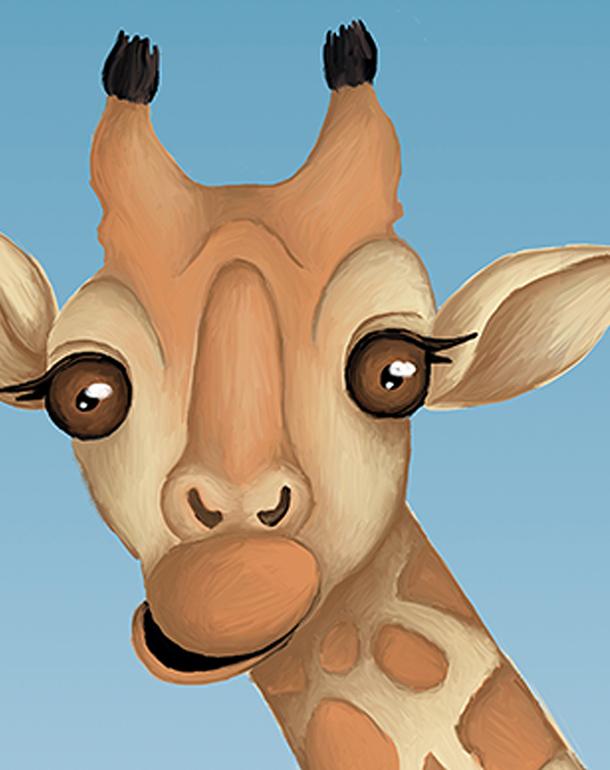 zoom-affiche-tableau-décoration-enfant-girafes
