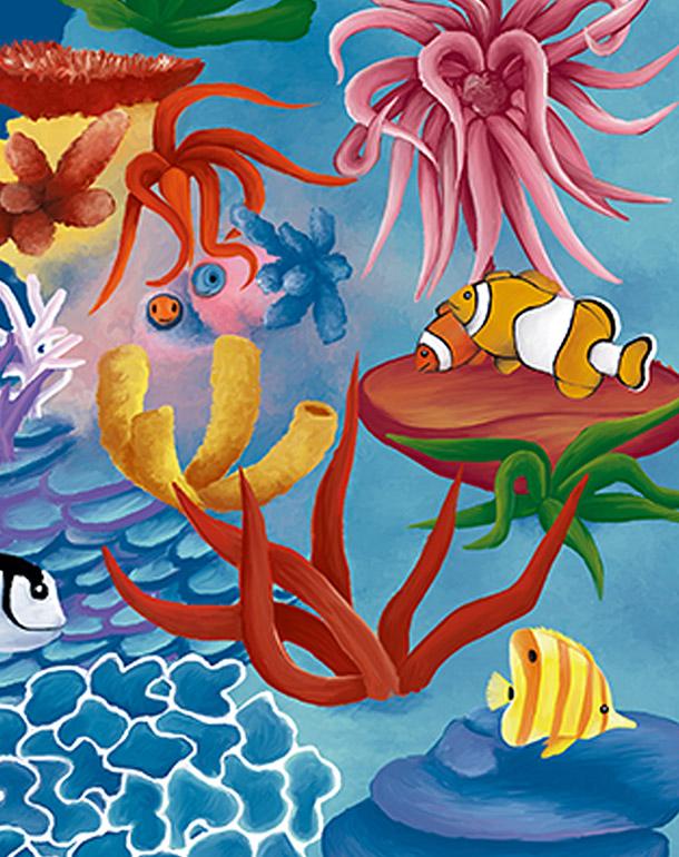 zoom-récif-poissons-tableau-affiche-décoration-enfant