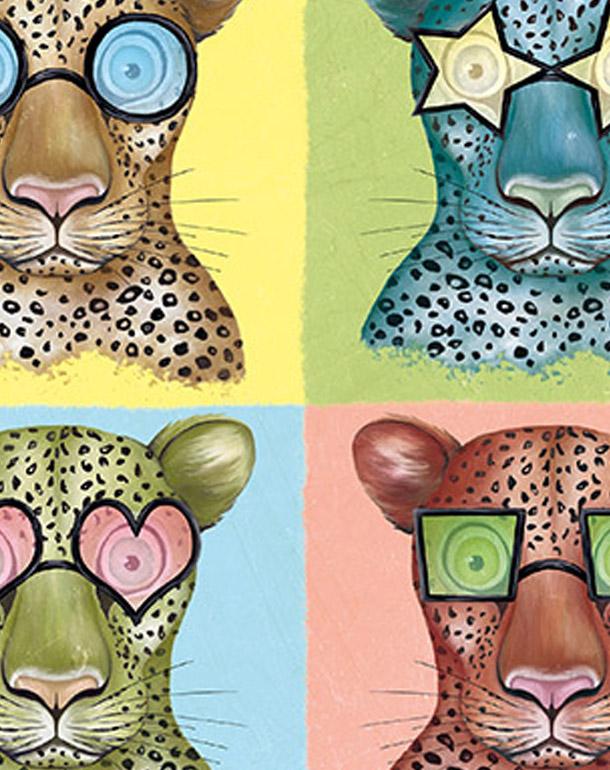 zoom-tableau-décoration-enfant-léopard-à-lunettes