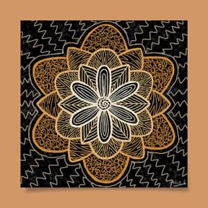 tableau-affiche-décoration-fleur-mandala-symboles