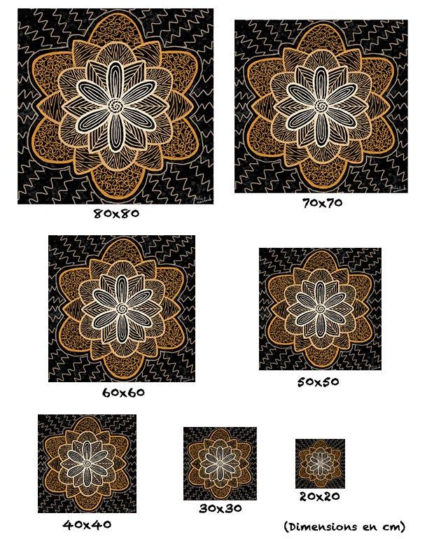 tableau-affiche-papier-aluminium-tailles-fleur-mandala-symboles