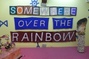 Banderole Somewhere Over The Rainbow / tissu / 201 x 395 cm / 2014