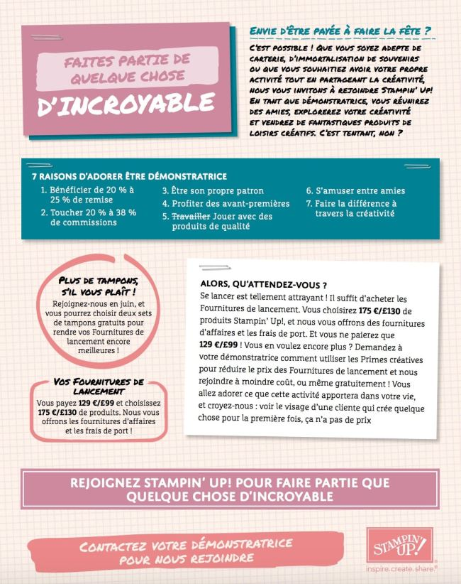NOUVELLE DEMONSTRATRICE