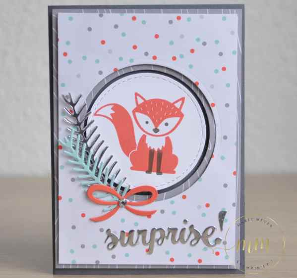 Cartes d'anniversaire Foxy Friends par Marie Meyer Stampin up - http://ateliers-scrapbooking.fr/ - Fox Friens Stamp - Stempelset Foxy Friends