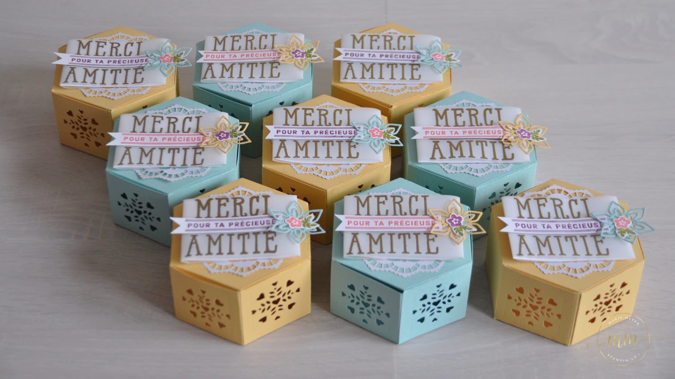 Boîtes à gourmandises Thinlits Jardinières et Set de tampons Lèche-vitrine par Marie Meyer Stampin up - http://ateliers-scrapbooking.fr/ - Window Box Thinlits Dies - Fensterschachtel Thinlits