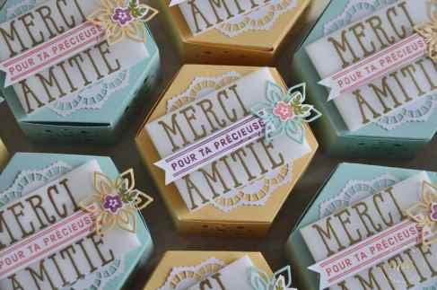 Boîtes à gourmandises Thinlits Jardinières par Marie Meyer Stampin up - http://ateliers-scrapbooking.fr/ - Window Box Thinlits Dies - Fensterschachtel Thinlits