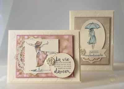 Cartes Resplendissante avec la technique du Paper Piecing Set de tampons Resplendissante et Papier Design Amour naissant par Marie Meyer Stampin up - http://ateliers-scrapbooking.fr/ - Beautiful you stamps - Falling in Love Designer Series Paper - Mit Stil Stempelset - Designerpapier Zum Verlieben