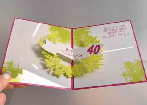 Carte d'anniversaire Adorables amis Thinlits Adorables lauriers par Marie Meyer Stampin up - http://ateliers-scrapbooking.fr/ - Lovely Friends Stamp Set - Lovely Laurel Thinlits Dies - You've Got This Stamp Set - Stempelset Für Freunde - Thinlits Formen Lorbeerkranz - Stempelset Alles wird gut