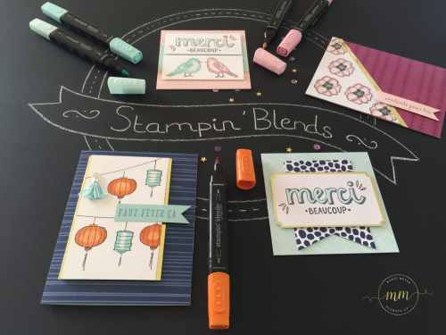 Cartes kit de projet couleur bonheur et set de tampons couleur Bonheur, Stampin'Blends marqueurs par Marie Meyer Stampin up - http://ateliers-scrapbooking.fr/ - Color Me Happy Project Kit, Color Me Happy Stamp Set - Farbenfroh Bundle, Farbenfroh Stamp Set