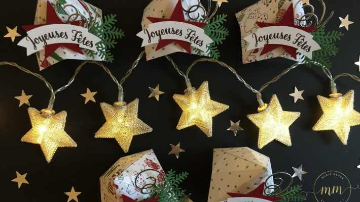 Boîtes origami de Noël Papier Soyons Joyeux et tutoriel, Perforatrice Deux banderoles, tampons Etoile lumineuse, Thinlits Escaliers de Noël & Flocons virevoltants par Marie Meyer Stampin up - http://ateliers-scrapbooking.fr/ - Origami Christmas tutorial, Be Merry paper, Duet banner punch, Star of light stamp, Swirly Snowflakes & Christmas Staircase Thinlits - Anteilung Origami, Papier Voller Vorfreude, Bannerduo Stenzen, Weihnachtssternstempel, Thinlits Flockenreigen & Weihnachtliche Treppe