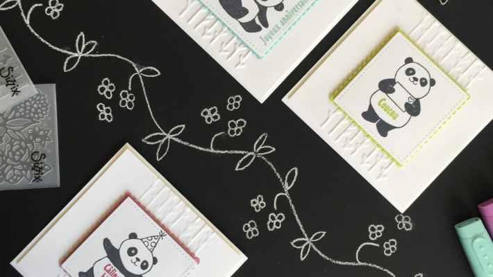 Cartes anniversaires Pandas Festifs