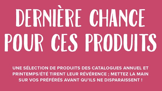 Fin de séries de nos catalogues Stampin up