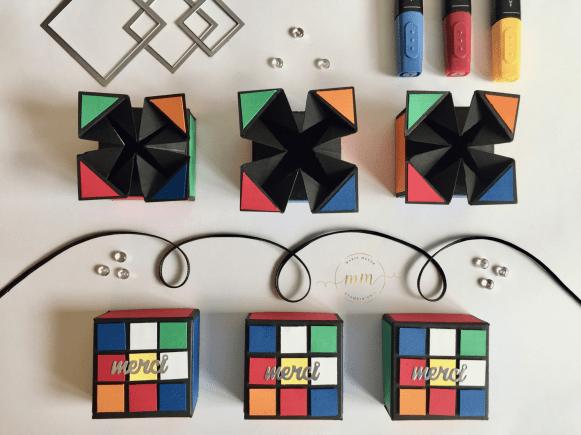 Tutoriel boîtes anniversaire Rubik's cube Napkin Fold par Marie Meyer Stampin up - http://ateliers-scrapbooking.fr - Tutorial Rubik's cube Box - Anteilung Rubik's cube Verpackung geschenke goodies