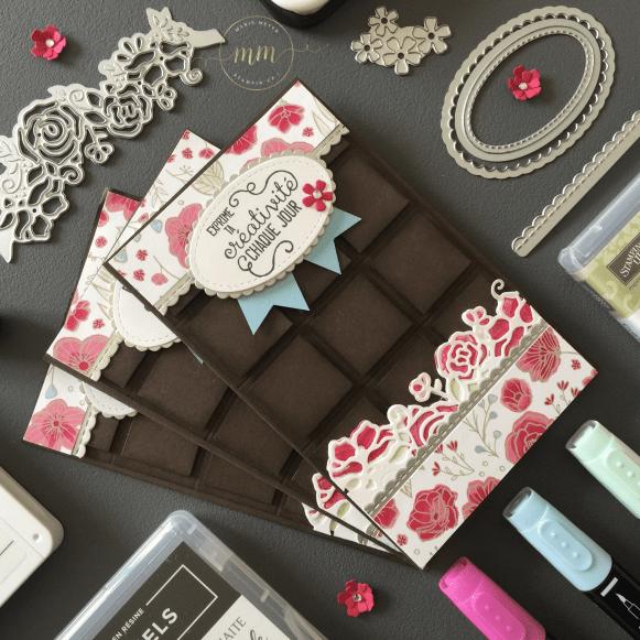 Carte tablette de chocolat De tout mon coeur 2019 3