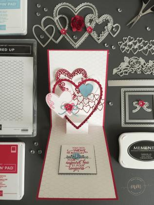 Carte anniversaire de mariage pop up Offre moi ton coeur 2019 7
