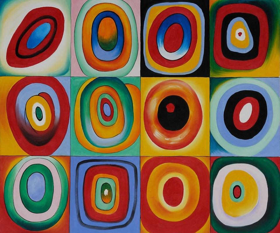 Farbstudie Quadrate Wassily Kandinsky