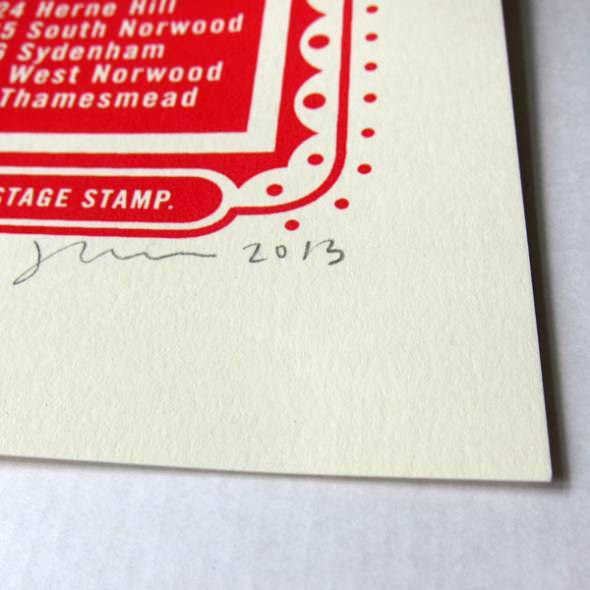james brown london print signature