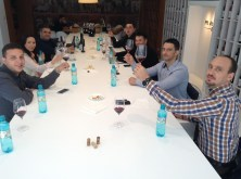 Echipa de vanzari impreuna cu Razvan Macici in noua sala de degustari in timpul team building-ului din octombrie 2014.