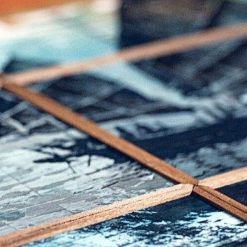 L'Atelier Vagabond, tableau polyptyque, illustrateur métier, illustrateur bordeaux, illustrateur indépendant, graphiste illustrateur, encre de chine, tableau décoratif mural, encre de chine, papier plié, polyptyque, L'Atelier Vagabond, dessin bateau