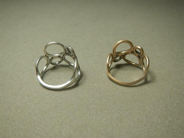 Maru ring 丸 指輪 k10 シルバー 手作り指輪 ハンドメイド指輪 熊本 HB アトリエnest