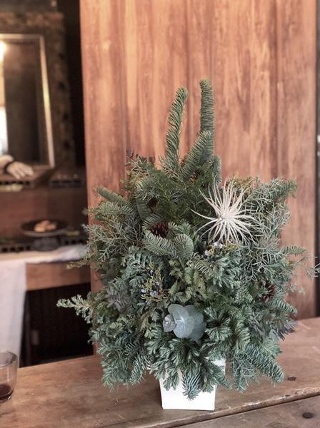 クリスマスツリー、フラワーレッスン、熊本、アトリエ・nest