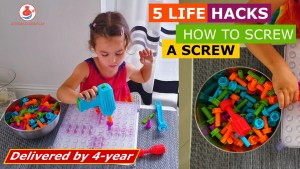 5 ways to screw the bolts, activity board, coordination skills of four year, fine motor skills