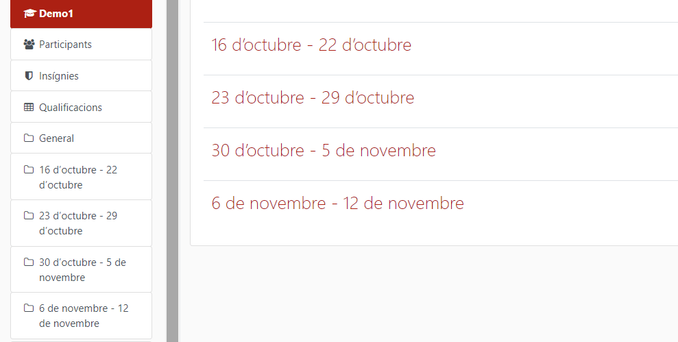 Format setmanal
