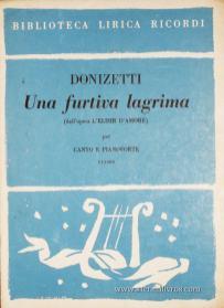 Una Furtiva Lagrima «Canto Piano Forte» «€5.00»