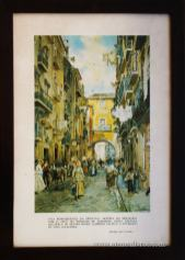 Lisboa - Mouraria com o Arco do Marques de Alegrete - Roque Gameiro «€15.00»