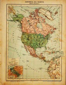 América do Norte - Mapa Político «€5.00»