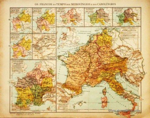 Os Francos no tempo dos Merovíngios e dos Carolíngios «€5.00»