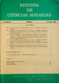 Revista de Ciências Agrárias - Volume XIX - Nº 1 – Jan. – Mar.- 1996 - Publicação da Sociedade de Ciências Agrárias de Portugal - Lisboa - 1996. Desc. 106 pág. / 24 cm x 17 cm / Br. - «€10.00»