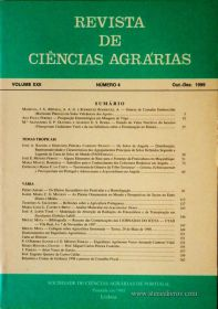 Revista de Ciências Agrárias - Volume XXII - Nº 4 – Out. – Dez.- 1999 - Publicação da Sociedade de Ciências Agrárias de Portugal - Lisboa - 1999. Desc. 172 pág. / 24 cm x 17 cm / Br. - «€15.00»