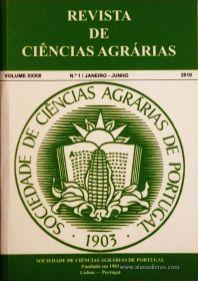 Revista da Sociedade de Ciências Agrárias - Volume XXXIII - 2010 – N.º 1 / Janeiro – Junho - Publicação de Ciências Agrárias de Portugal - Lisboa - 2010. Desc. 393 pág. / 24 cm x 17 cm / Br. - «€40.00»