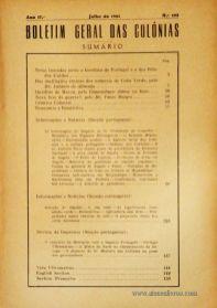 Boletim Geral das Colónias – Ano 17.ª – Julho de 1941 – N.º 193 – Agencia Geral das Colónias – Lisboa – 1941. Desc. 156 pág. / 22,5 cm x 16 cm / Br «€12,50»