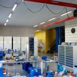 Industriehalle Arbeitsplatzbeleuchtung