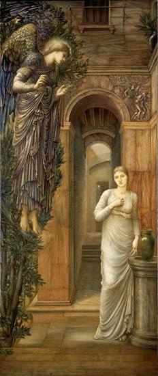 Ed. Burne Jones, Ο Ευαγγελισμός (1879)