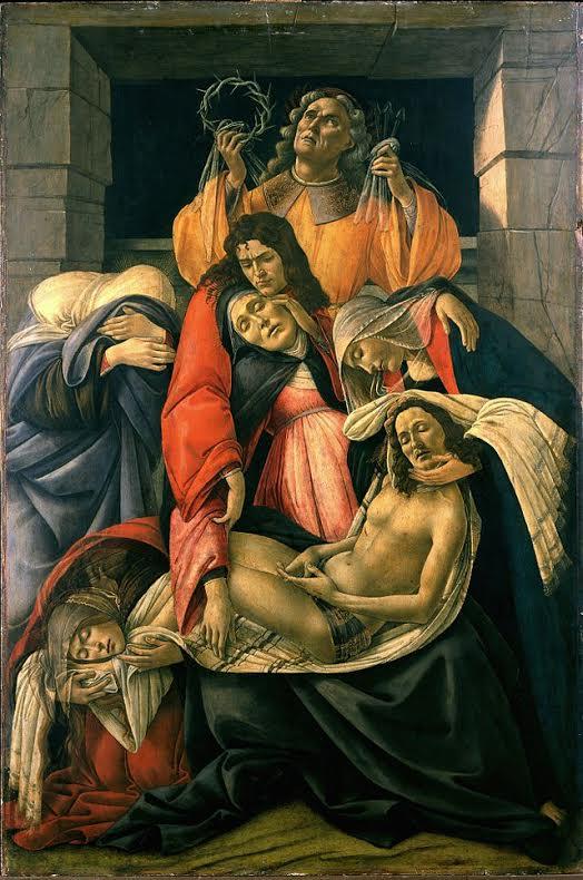 Sandro Botticceli, Θρήνος για το νεκρό Χριστό (1495)