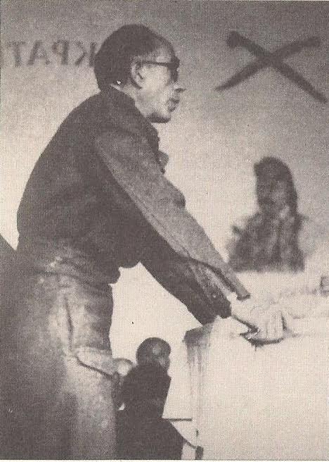Ο Π.Κόκκαλης στο βήμα του Εθνικού Συμβουλίου στις Κορυσχάδες (23 Μαΐου 1944)