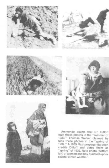 Φωτογραφίες προπαγανδιστικού ναζιστικού βιβλίου χρησιμοποιήθηκαν ως...δήθεν αυθεντικά ντοκουμέντα που τράβηκε ο Ουόκερ στην Ουκρανία. Πηγή: Douglas Tottle, 1987