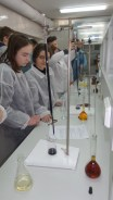 Praktinis seminaras Chemijos laboratorijoje Šiaulių Didždvario gimnazijos moksleiviams