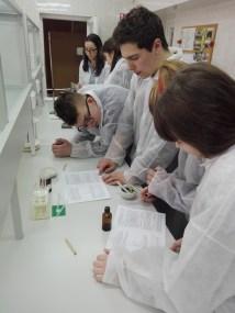 Chemijos laboratorijoje vyko praktinis seminaras Vilniaus Grigiškių gimnazijos moksleiviams
