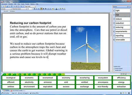 Screenshot of Write Online Software