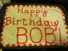Bob Deyan's Birthday Cake with exquisite dot design.