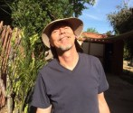 Brian with mandatory Southern California sun hat.